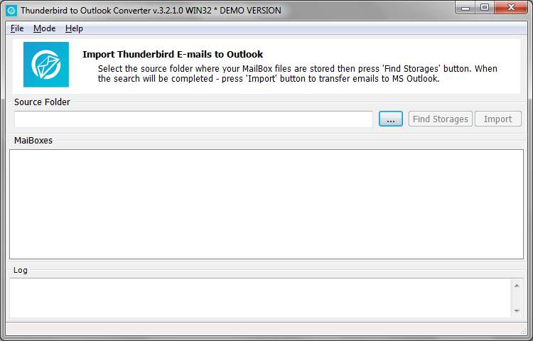 Download Install and Run Thunderbird to Outlook Converter