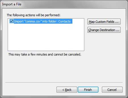 Outlook Window - Start Thunderbird to Outlook Contects Conversion