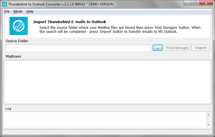 Click to view Thunderbird to Outlook Converter screenshots